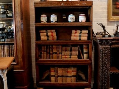 Globe Wernicke Barrister Bookcase - Vintage/Antique Furniture Archives - Reclaimed-Leather