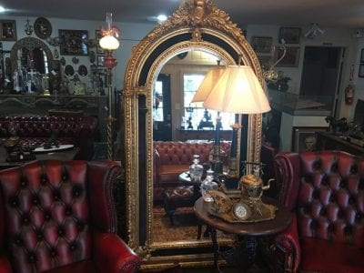 Vintage Mirrors, Reclaimed Leather, Spring TX